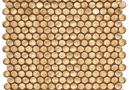 "Interglass Penny Round Gold 12""x12"" INCINTPGOLL12"