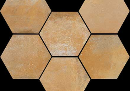 "Epoca Ocra Hexagon 7""X8"" RAGEP1087HEX1P"