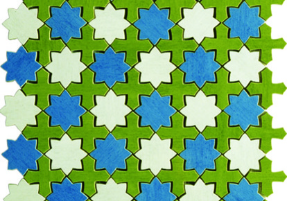"Aquarelle Star Blue Wall Mosaic 12""x12"" INCAQUASTBE1212"