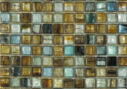 "Interglass Murano Golden-Blue 12.75""x12.75"" INCINTMGOLB12MOS"