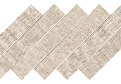 "Jute Pure Cotton Herringbone Mosaic 12""x12"" ACUAT84"