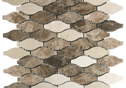 "Natural Blend Mosaic Waves 12""x12"" INCMARBNABL12MOW"