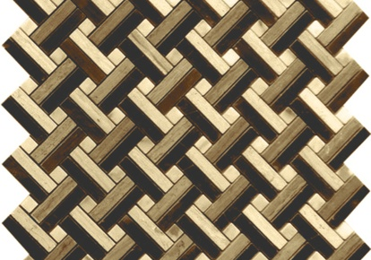 "Natural Blend Mosaic Lattice Basketweave 12""x12"" INCMARBNABL12MLT"