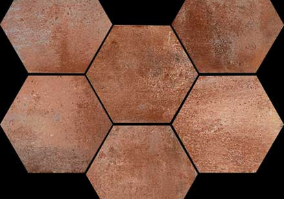 "Epoca Cotto Scuro Hexagon 7""X8"" RAGEP1187HEX1P"