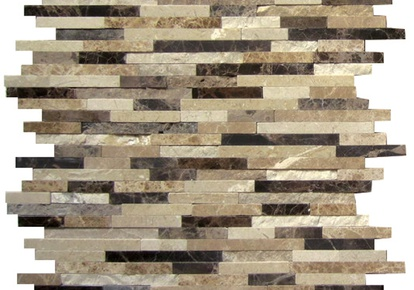 "Natural Blend Mosaic Sticks Hi/Lo 12""x12"" INCMARBNABL12MST"