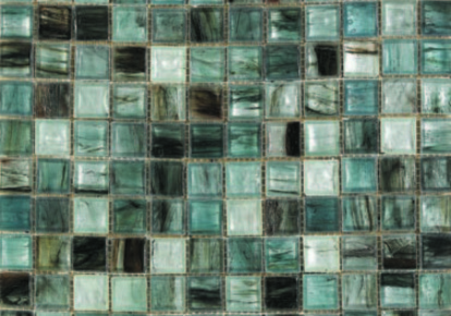 "Interglass Murano White-Blue 12.75""x12.75"" INCINTMWHIB12MOS"