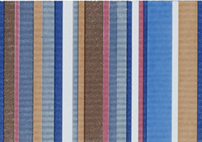 "Aquarelle Blue Stripes Wall Listel 4""x10"" INCAQUABLUE410"