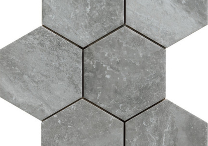 "Bistrot Crux Grey Hexagon 7""X8"" RAGBS1387HEX1P"