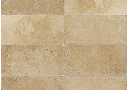 "Backsplash Inspirations Travertino Caramel 3""x6"" INCMXTRTRCA36TUM"