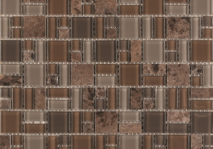 "Pietra Cristal Geometric Brown 12""x12' INCPICMBROW12MOS"